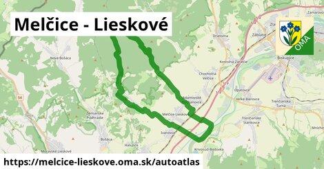 ikona Mapa autoatlas  melcice-lieskove