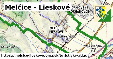 ikona Turistická mapa turisticky-atlas  melcice-lieskove