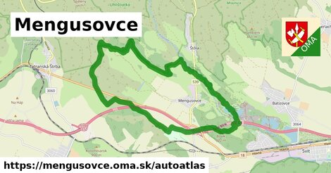 ikona Mapa autoatlas  mengusovce