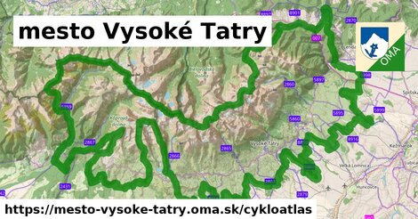 ikona mesto Vysoké Tatry: 164km trás cykloatlas  mesto-vysoke-tatry