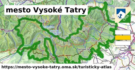 ikona mesto Vysoké Tatry: 267km trás turisticky-atlas  mesto-vysoke-tatry