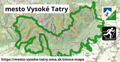 ikona mesto Vysoké Tatry: 19km trás zimna-mapa  mesto-vysoke-tatry