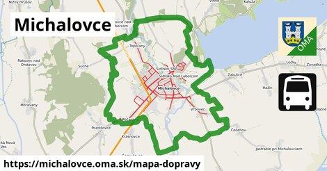 ikona Michalovce: 637km trás mapa-dopravy  michalovce