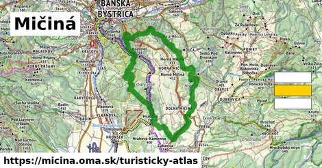 ikona Turistická mapa turisticky-atlas  micina