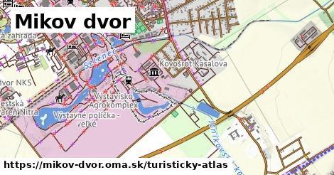 ikona Mikov dvor: 0m trás turisticky-atlas v mikov-dvor