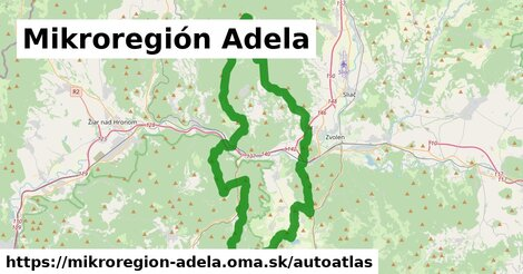 ikona Mapa autoatlas  mikroregion-adela