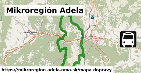 ikona Mapa dopravy mapa-dopravy  mikroregion-adela