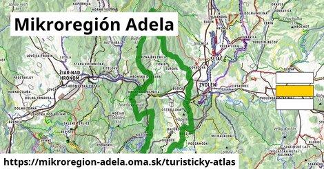 ikona Mikroregión Adela: 8,2km trás turisticky-atlas  mikroregion-adela