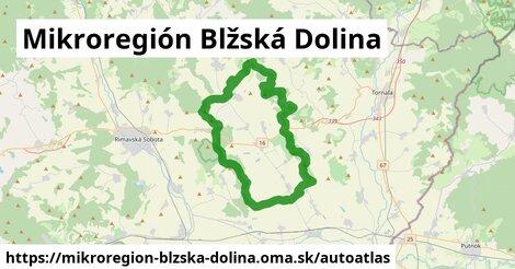 ikona Mapa autoatlas  mikroregion-blzska-dolina