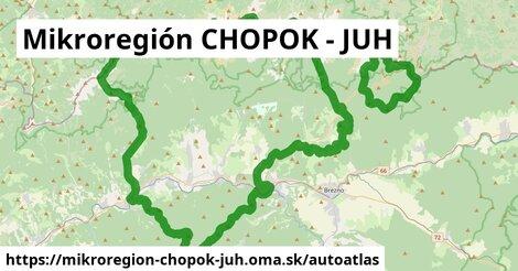ikona Mapa autoatlas  mikroregion-chopok-juh