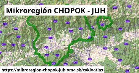 ikona Mikroregión CHOPOK - JUH: 175km trás cykloatlas  mikroregion-chopok-juh