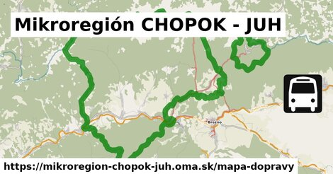ikona Mikroregión CHOPOK - JUH: 29km trás mapa-dopravy  mikroregion-chopok-juh