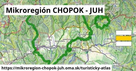 ikona Mikroregión CHOPOK - JUH: 280km trás turisticky-atlas  mikroregion-chopok-juh