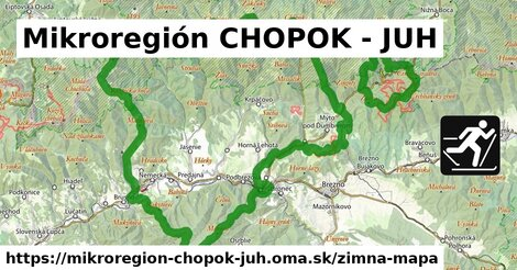 ikona Mikroregión CHOPOK - JUH: 16km trás zimna-mapa  mikroregion-chopok-juh