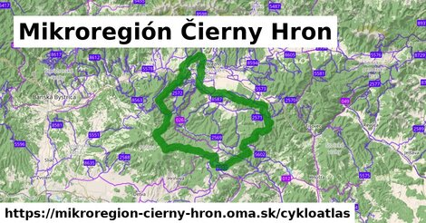 ikona Mikroregión Čierny Hron: 269km trás cykloatlas  mikroregion-cierny-hron
