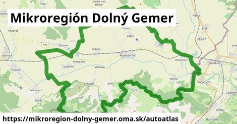 ikona Mapa autoatlas  mikroregion-dolny-gemer