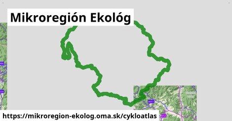 ikona Mikroregión Ekológ: 681km trás cykloatlas  mikroregion-ekolog