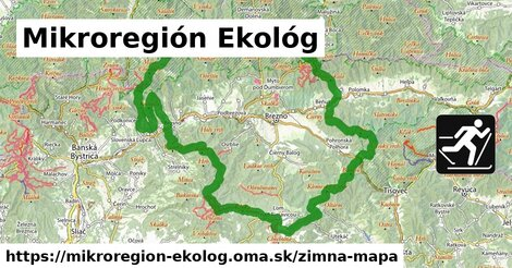 ikona Mikroregión Ekológ: 66km trás zimna-mapa  mikroregion-ekolog