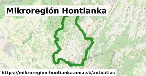 ikona Mapa autoatlas  mikroregion-hontianka