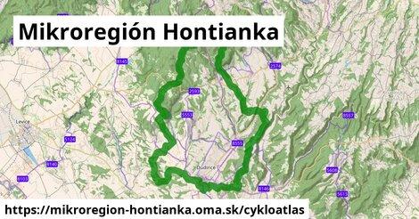 ikona Mikroregión Hontianka: 109km trás cykloatlas  mikroregion-hontianka