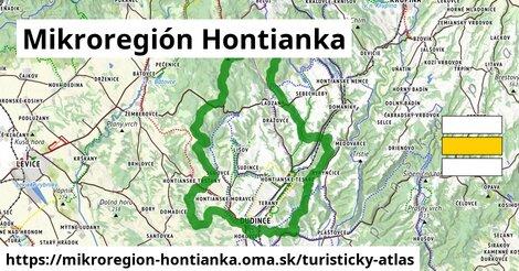 ikona Turistická mapa turisticky-atlas  mikroregion-hontianka