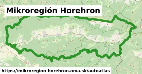 ikona Mapa autoatlas  mikroregion-horehron