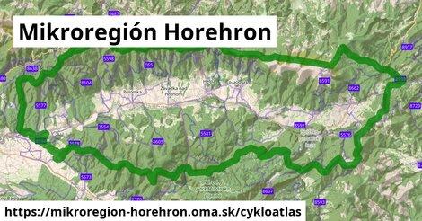 ikona Mikroregión Horehron: 276km trás cykloatlas  mikroregion-horehron
