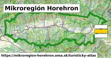 ikona Mikroregión Horehron: 250km trás turisticky-atlas  mikroregion-horehron