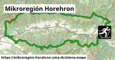 ikona Mikroregión Horehron: 19km trás zimna-mapa  mikroregion-horehron