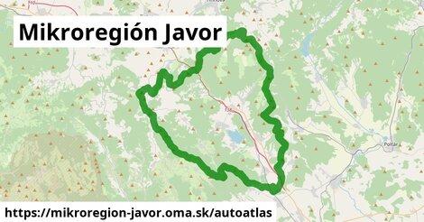ikona Mapa autoatlas  mikroregion-javor