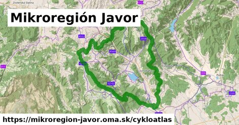 ikona Mikroregión Javor: 70km trás cykloatlas  mikroregion-javor