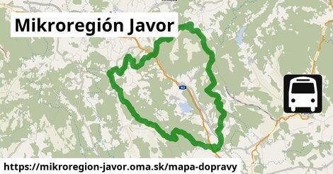 ikona Mikroregión Javor: 16km trás mapa-dopravy  mikroregion-javor