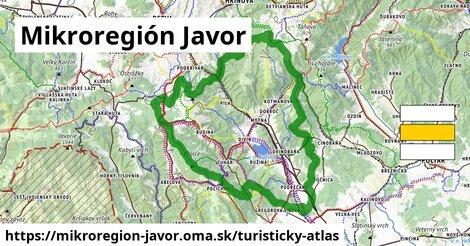ikona Mikroregión Javor: 106km trás turisticky-atlas  mikroregion-javor