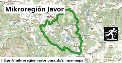 ikona Mikroregión Javor: 189m trás zimna-mapa  mikroregion-javor