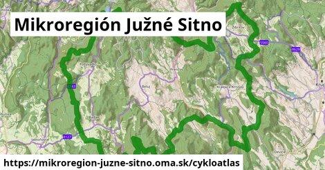 ikona Mikroregión Južné Sitno: 50km trás cykloatlas  mikroregion-juzne-sitno