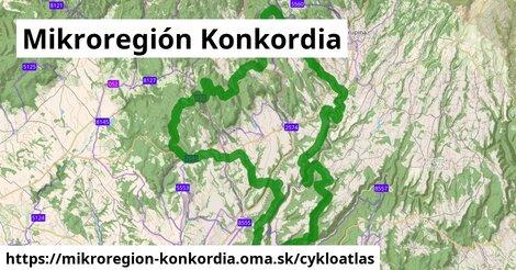 ikona Mikroregión Konkordia: 34km trás cykloatlas  mikroregion-konkordia