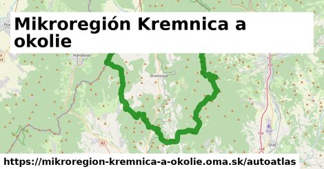 ikona Mapa autoatlas  mikroregion-kremnica-a-okolie