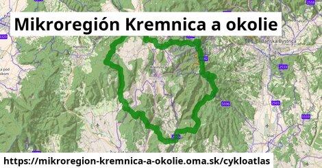 ikona Mikroregión Kremnica a okolie: 99km trás cykloatlas  mikroregion-kremnica-a-okolie