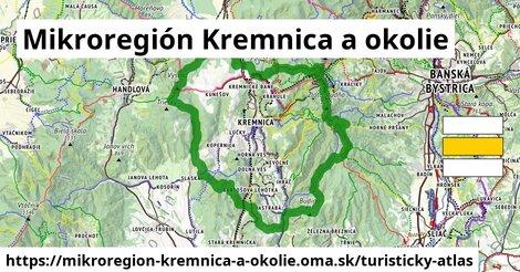 ikona Mikroregión Kremnica a okolie: 157km trás turisticky-atlas  mikroregion-kremnica-a-okolie