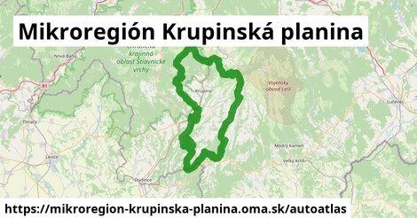 ikona Mapa autoatlas  mikroregion-krupinska-planina