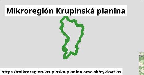 ikona Mikroregión Krupinská planina: 38km trás cykloatlas  mikroregion-krupinska-planina
