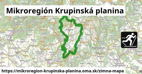 ikona Mikroregión Krupinská planina: 7,7km trás zimna-mapa  mikroregion-krupinska-planina