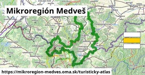 ikona Turistická mapa turisticky-atlas  mikroregion-medves