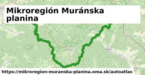 ikona Mapa autoatlas  mikroregion-muranska-planina