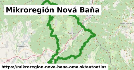 ikona Mapa autoatlas  mikroregion-nova-bana