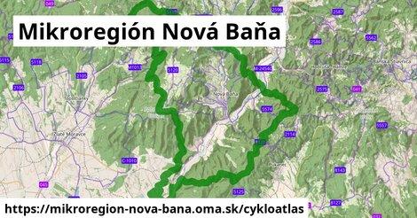 ikona Mikroregión Nová Baňa: 123km trás cykloatlas  mikroregion-nova-bana
