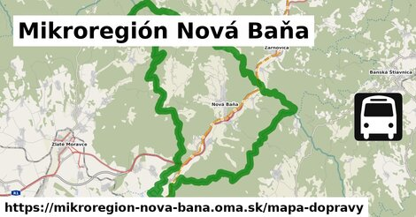 ikona Mikroregión Nová Baňa: 83km trás mapa-dopravy v mikroregion-nova-bana