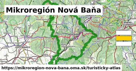 ikona Mikroregión Nová Baňa: 91km trás turisticky-atlas  mikroregion-nova-bana