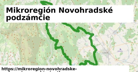ikona Mapa autoatlas  mikroregion-novohradske-podzamcie