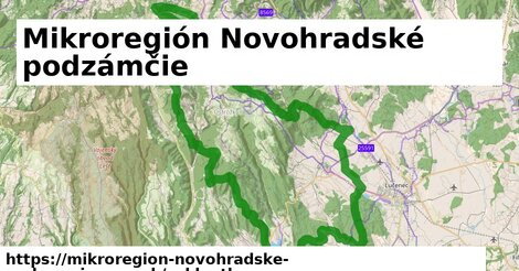 ikona Mikroregión Novohradské podzámčie: 21km trás cykloatlas  mikroregion-novohradske-podzamcie